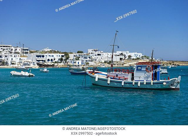 Koufonissi town view. Koufonissi island. Cyclades islands. Greece