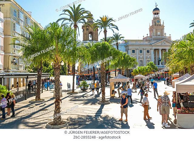 town hall of Cádiz, Plaza de San Juan de Dios, Andalusia, Spain