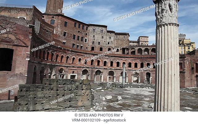 PAN, Daylight. Trajan's Markets were a complex of 150 shops and offices commissioned by Emperor Trajan and designed by Apollodorus of Damascus during the 2nd...