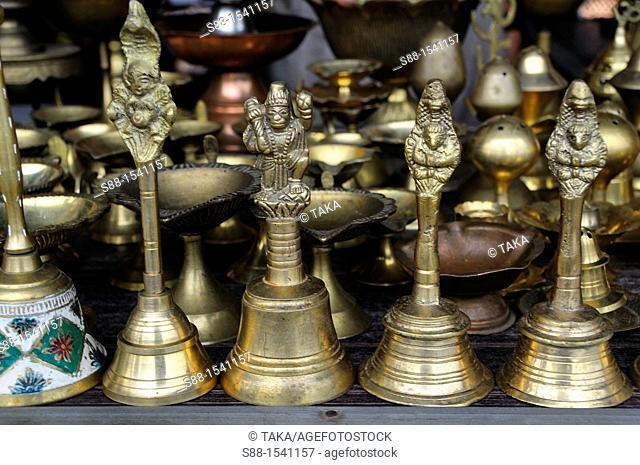 Ian bell shop by the street in New Delhi