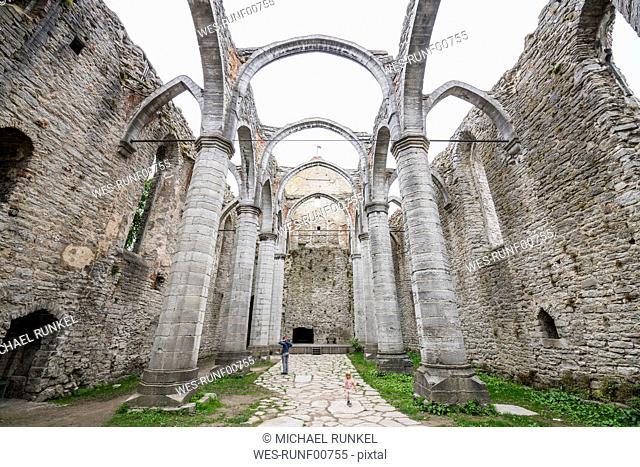 Sweden, Gotland County, Visby, Ruin of St. Nicholas' church