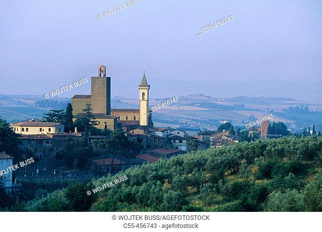 Vinci, the town where Leonardo da Vinci was born. Tuscany, Italy