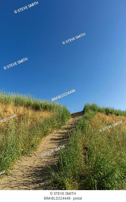 Dirt path on hill