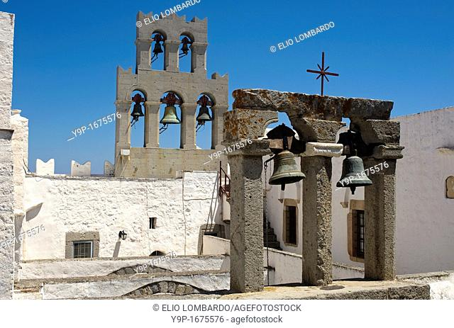 Monastery of Aghios Ioannis Theologos  Chora, Island of Patmos, Dodecanese, Greece