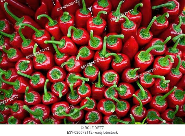Roter paprika vom Markt
