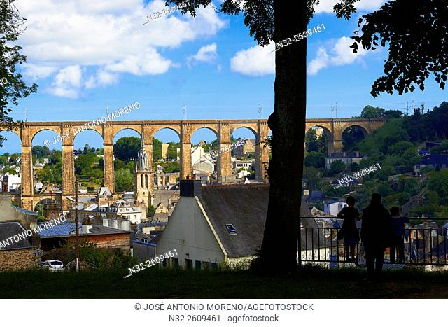 Morlaix, Viaduct, City Views, Bretagne, Brittany, Finistere, France, Europe