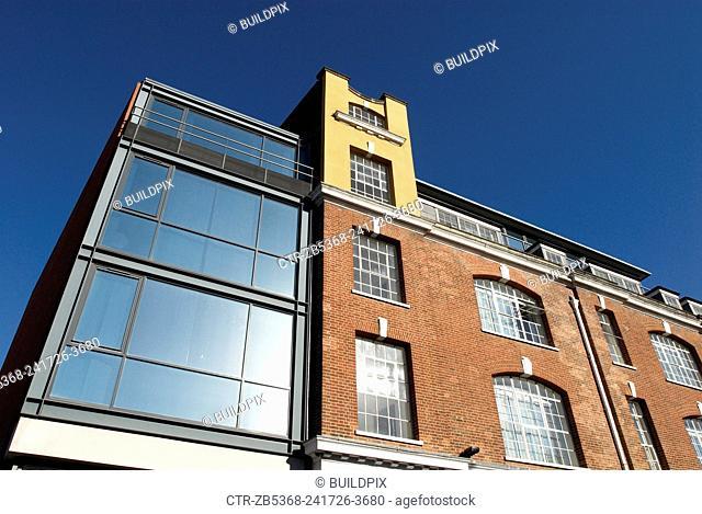 Modern designer office building, London, UK