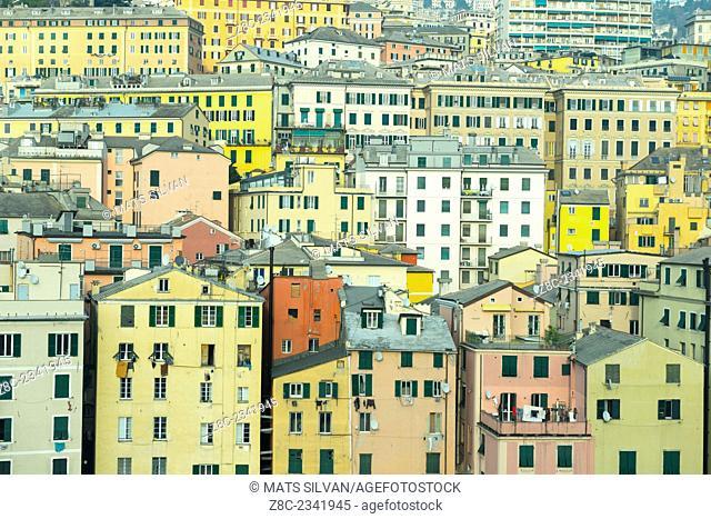 Cityscape over Genoa, Italy