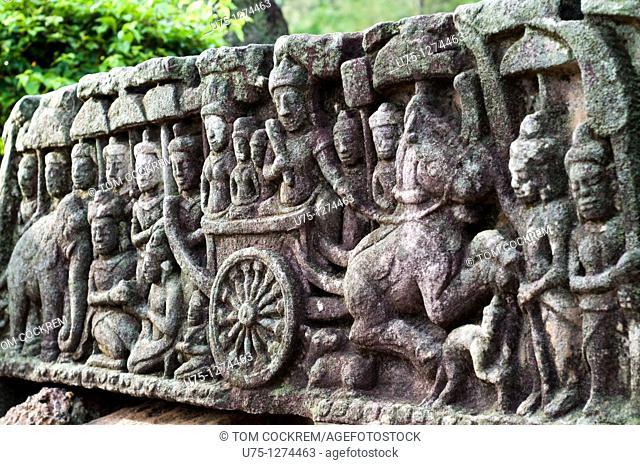 Ta Prohm temple ruins, Tonle Bati, Takeo, Cambodia