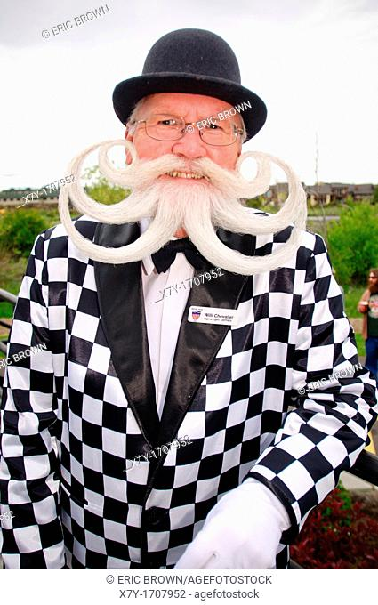 Willi Chevalier, a competitor at the 2010 USA National Beard and Moustache Championships in Bend, OR, USA  June 5, 2010