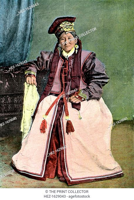 Kalmyk princess, c1890. Illustration from Caucase and Asie Centrale, Types and Costumes, (a work on the people and costume of the Caucasus and Central Asia)