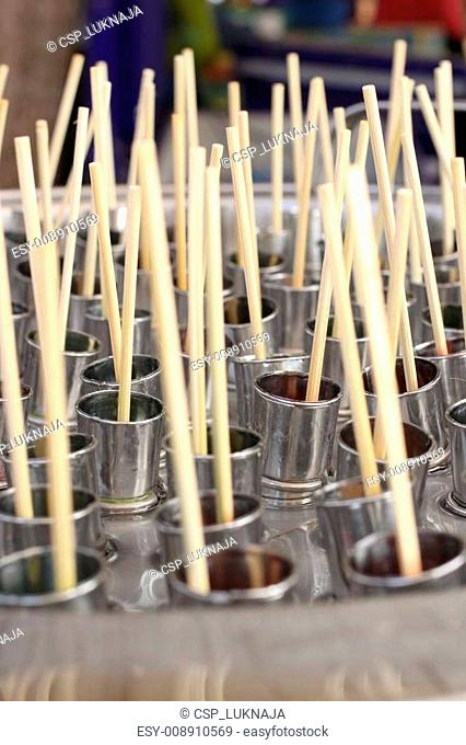 steel container to fabric ice cream - thailand