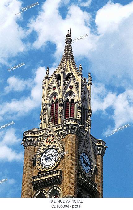 Rajabai clock tower. Bombay. Maharashtra, India