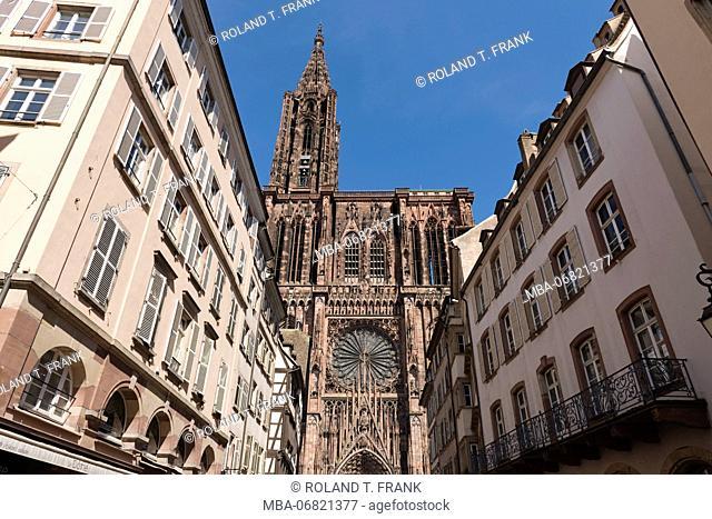 France, Alsace, Strasbourg, Strasbourg Minster