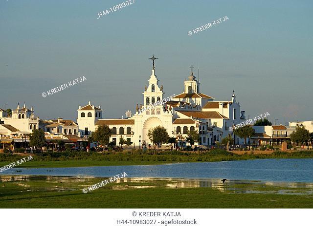 church in El Rocio on Costa de la Luz in Andalusia