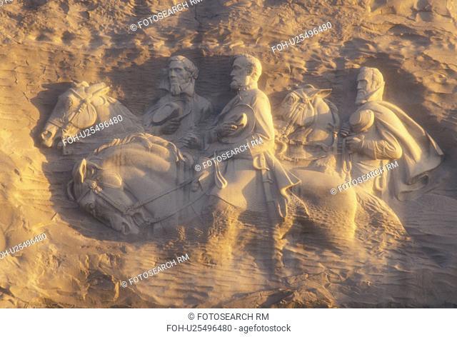 Stone Mountain, GA, Confederate Memorial Carving, Atlanta, Georgia, The Confederate Memorial Carving of President Jefferson Davis