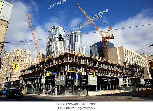 the aura building canadas tallest condominium under construction toronto ontario canada