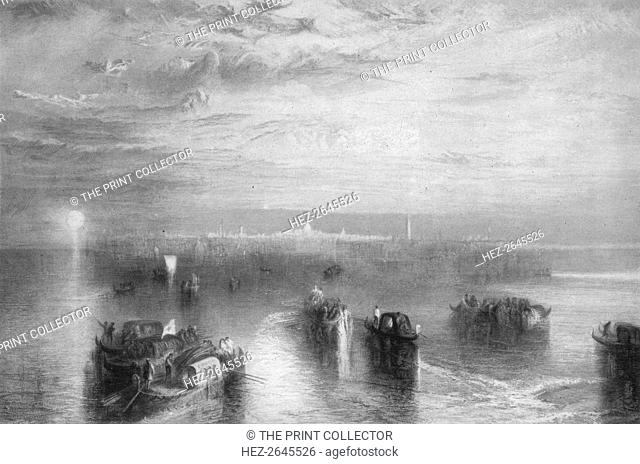 'The approach to Venice', 1844, (1917). Artist: JMW Turner