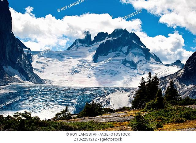 Vowell Glacier from Tamarack Valley in Bugaboo Provincial Park, British Columbia, Canada