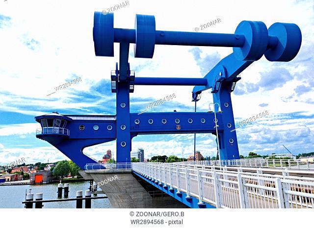 Peene bridge Wolgast Baltic Sea Germany