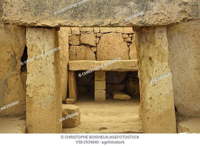 Malta, World Heritage Site, Megalithic temple of Ħaġar Qim (c. 3600-3200BC)
