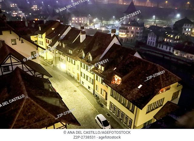 Bern Switzerland-DECEMBER 5, 2015: Night panorama of Bern Christmas time on December 5, 2015 in Bern, Switzerland