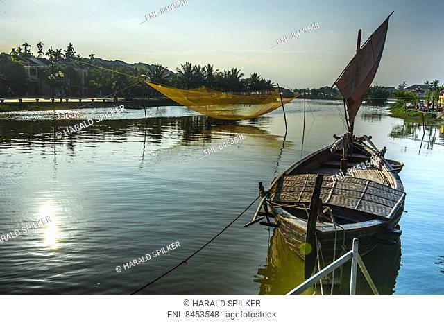 Boat in water, Hoi An, Vietnam