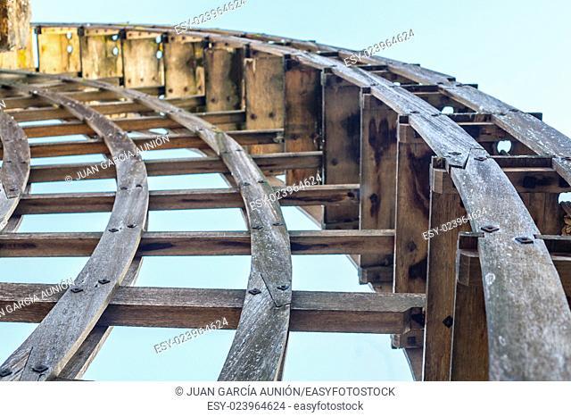 Albolafia mill or Kulaib mill, Cordoba, Spain. Wheel detail
