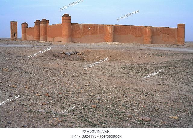 Qasr al-Heir ash-Sharqi, fortress, castle, desert, historical, palace, Umayyaden caliph Hisham, Syria, Middle East