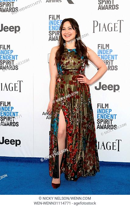 32nd Annual Film Independent Spirit Awards - Arrivals Featuring: Lily Gladstone Where: Santa Monica, California, United States When: 25 Feb 2017 Credit: Nicky...
