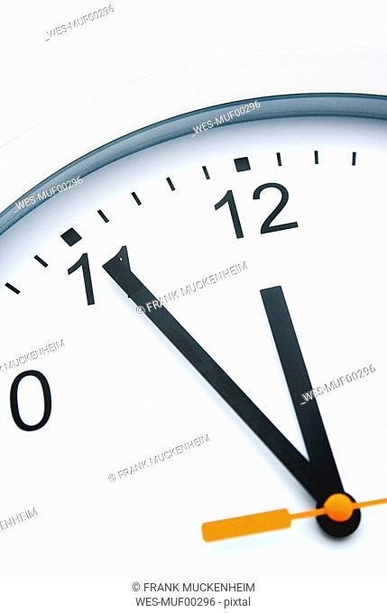 Clock face, close-up