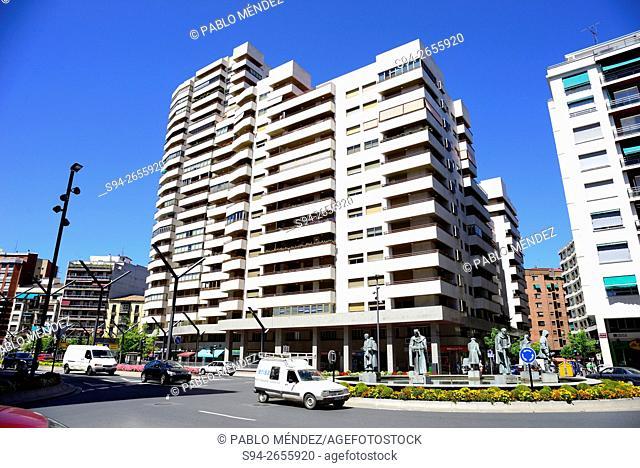 Building in avenue of Rey Juan Carlos in Logroño, La Rioja, Spain