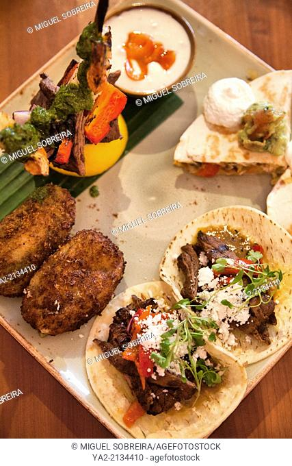 Mexican Tasting Platter at Cantina Laredo in Covent garden in London UK