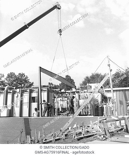 Early construction of Centers for Disease Control and Prevention buildings, Clifton Road Offices, Atlanta, Georgia, 1975. Image courtesy CDC