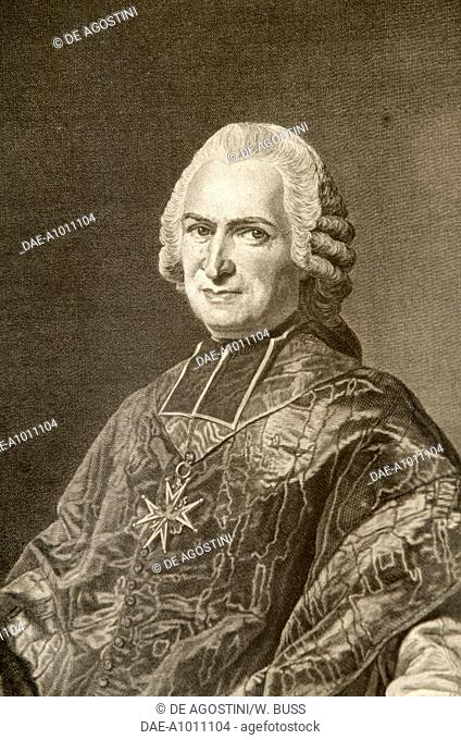 Portrait of Joseph Marie Terray (Boen, 1715-Paris, 1778), French abbot and politician, after a painting by Alexander Roslin (1718-1793)
