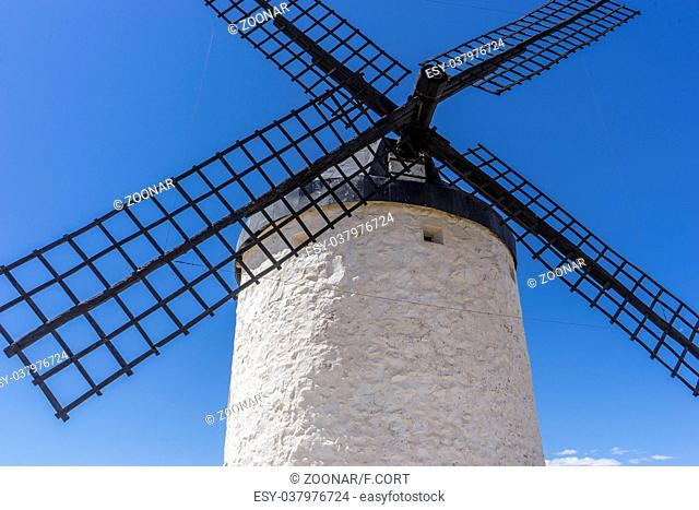 Travel, windmills of Consuegra in Toledo City, were used to grind grain of wheat and barley