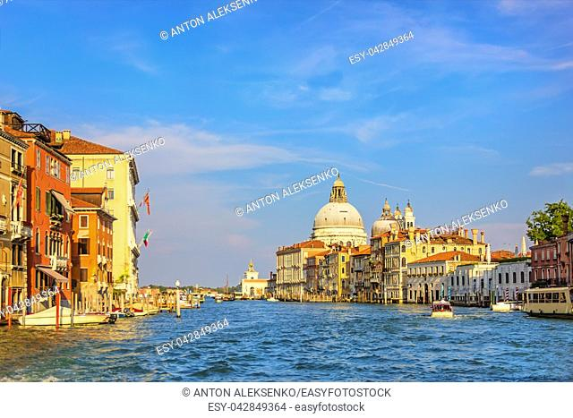 Grand Canal beautiful summer view in Venice, Italy