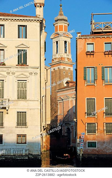 Canal Grande on January 23, 2016 in Venice, Italy