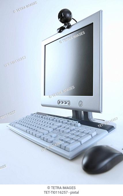 Computer with webcam attachment
