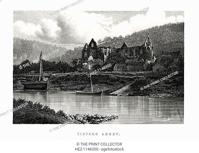 Tintern Abbey, Monmouthshire, England, 1896. The Cistercian abbey was founded in 1131