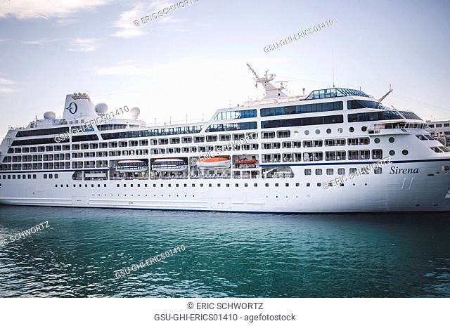 Large Ferry in Adriatic Sea from Split to Vis, Croatia