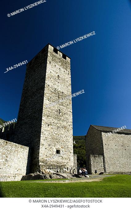 White Tower of Castelgrande in Bellinzona