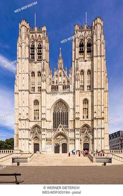 Belgium, Brussels, Cathedral of St Michael and St Gudula