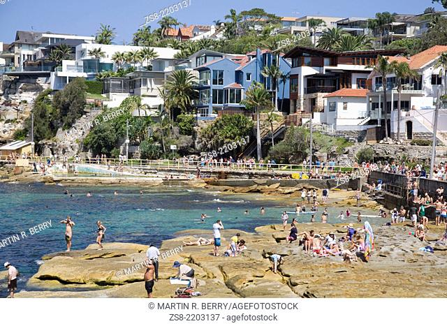 Fairy Bower at Manly Beach,one of Sydney's northern beaches,suburbs,australia
