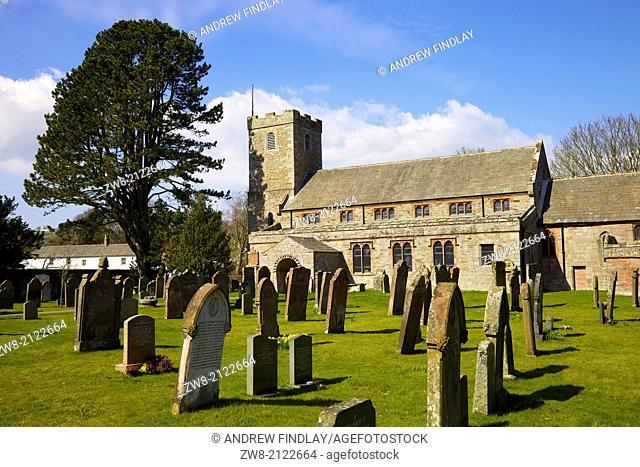 Grave yard at St Kentigern Church, Caldbeck, Lake District, Cumbria, England, United Kingdom