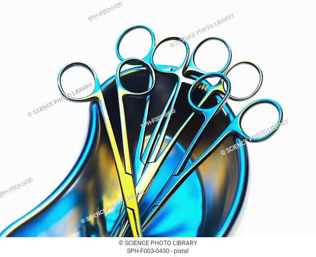Surgical instruments in a dish