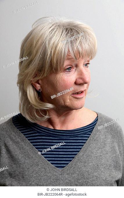 White woman talking
