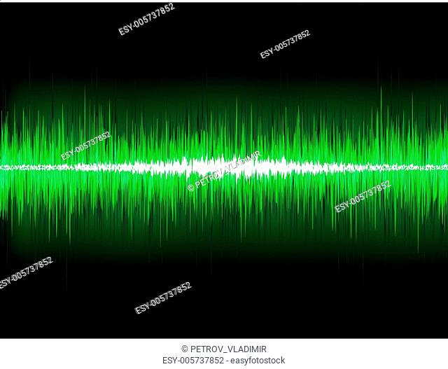 Sound waves oscillating glow light. EPS 8
