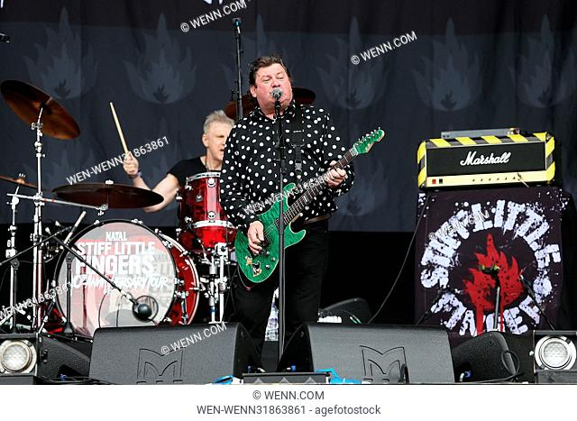 British Summer Time 2017 at Hyde Park - Day 2 - Performances Featuring: Stiff Little Fingers, Jake Burns Where: London, United Kingdom When: 01 Jul 2017 Credit:...