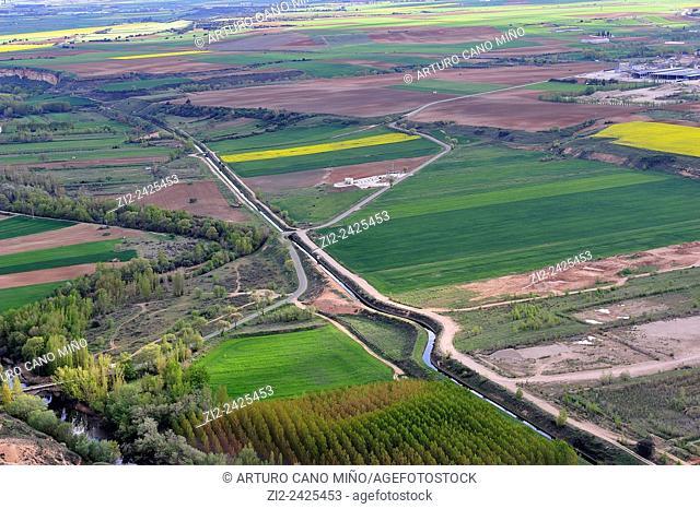 Farm lands. Alarilla, Guadalajara, Spain